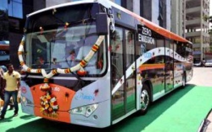 India's First Electric Bus Flagged Off