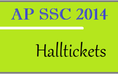 AP SSC 10th Class Hall Tickets 2014 – Admit Card Download