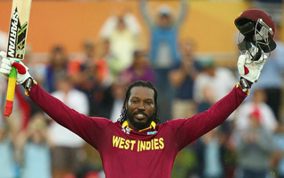 Gayle, Samuels crush Zimbabwe and records