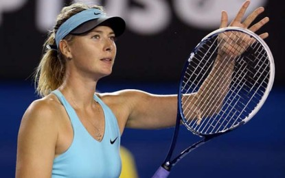 Flavia Pennetta, then brought by Maria Sharapova breaks