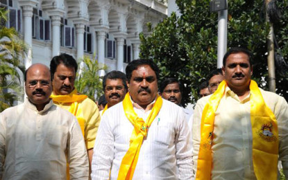 TDP MLAs meet Governor on the suspension of the Assembly