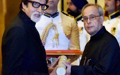 Amitabh Bachchan is Padma Vibhushan, PM Modi attends ceremony
