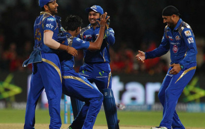 Sink Mumbai Indians Royal Challengers Bangalore to register first Win