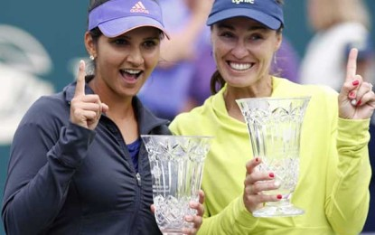 Sania Mirza became world No. 1 in doubles tennis