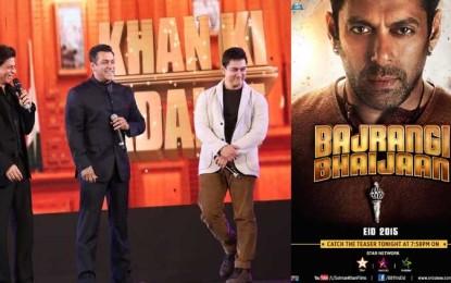 Thanks Salman Khan Shah Rukh Khan, Aamir to tweet look 'Bajrangi Bhaijaan' reveals poster for fans