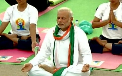 What you are behind Modi Yoga Drive
