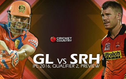GL vs SRH match prediction: How the IPL 2016 Qualifier 2 in Delhi might play out