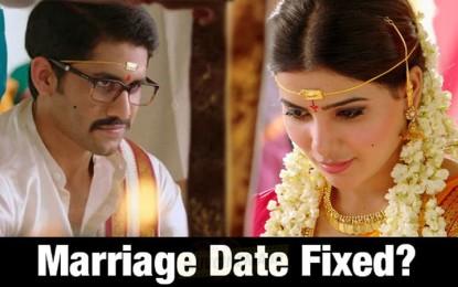 Naga Chaitanya and Samantha Marriage Date & Venue Fixed ?