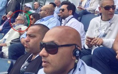 VIP Vijay Mallya spotted watching Ind vs Pak match