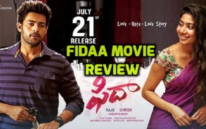 Review of the Fidaa movie !!