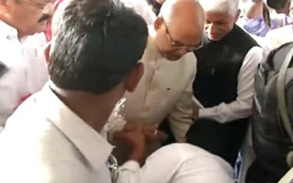 Why does this baron of the media get upset by YS Jagan touching Kovind's feet?