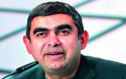 "Infosys praises Vishal Sikka as ""thought leader"", not just a ""technical guy"""