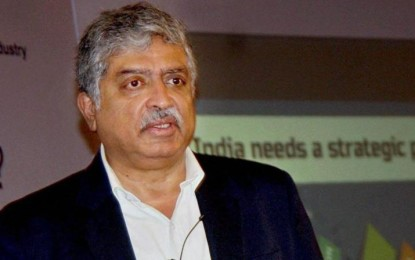 Infosys shares rise on reports of co-founder Nilekani's return to board