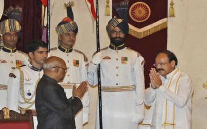 Modi welcomes VP Venkaiah Naidu in RS, Oppn asks him to be impartial