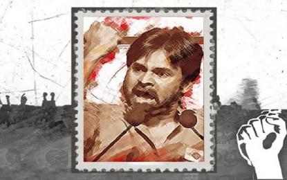 Pawan Kalyan's photo on postage stamp
