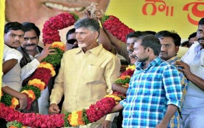 Naidu releases water to HNSS approach channel
