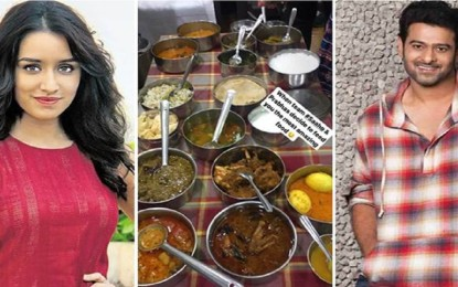 Prabhas treats Shraddha Kapoor to the kitchen of Hyderabadi