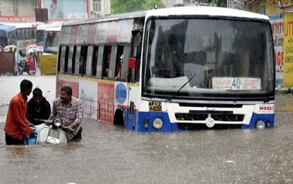 Rainy spell to continue over Telangana for the next 3-4 days
