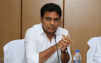 KTR lays foundation stones for development works worth Rs. 73.66 Cr