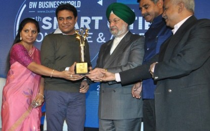 KTR receives Leader of the Year Award, hails KCR for guiding him