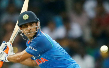 Dhoni, Pandey take India to 180